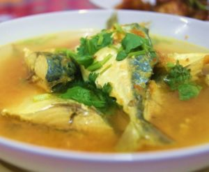 Kalori Ikan Kembong Masak Asam Rebus